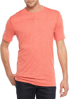 Ocean & Coast® Short Sleeve Split Neck Shirt