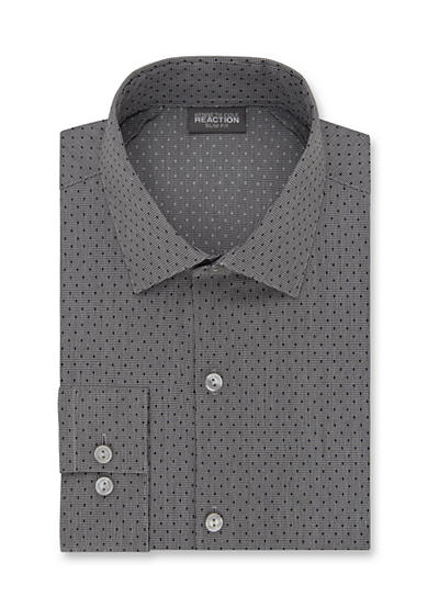Kenneth Cole Reaction Wrinkle Free Slim  Fit Dress Shirt
