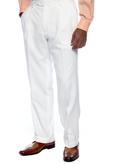 Saddlebred® Classic Fit White Suit Separate Pants