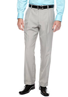 Saddlebred® Classic Fit Sage Gray Stria Suit Separate Pants