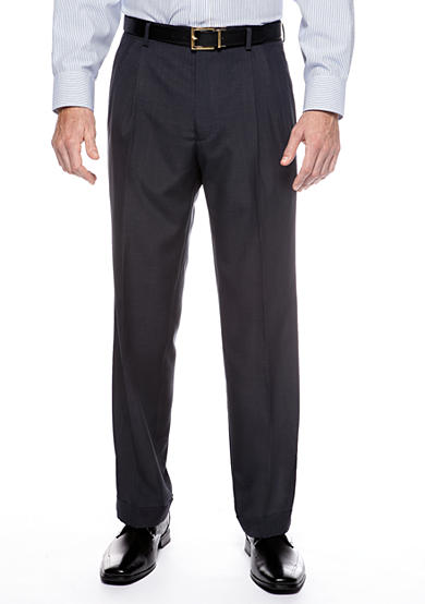 Saddlebred® Classic Fit Navy Stria Suit Separate Pants