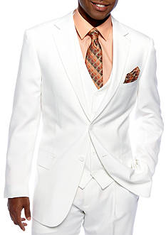 Saddlebred® Classic Fit White Suit Separate Coat