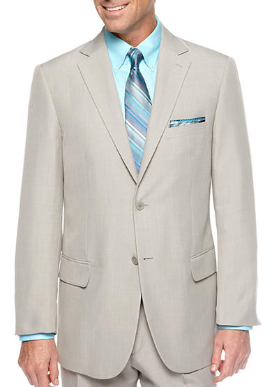 Saddlebred® Classic Fit Sage Gray Stria Suit Separate Coat