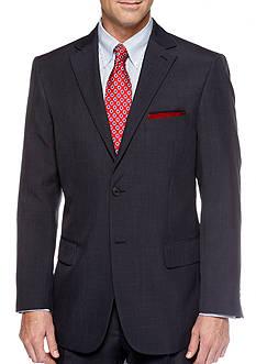 Saddlebred Classic Fit Navy Stria Suit Separate Coat