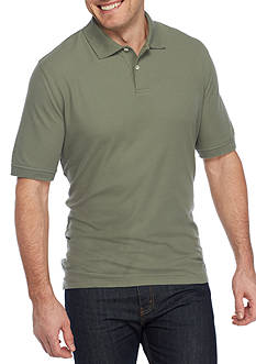 Saddlebred Big & Tall Short Sleeve Solid Basic Pique Polo Shirt