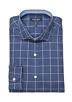 Nautica Classic-Fit Winsford Cutaway Windowpane Dress Shirt