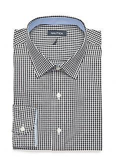 Nautica Spread Check Black & White Button Down Shirt