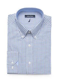 Nautica Classic-Fit Check Dress Shirt