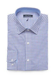 Nautica Blue Peach Check Button Down Shirt