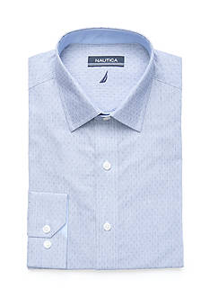 Nautica Blue Ditsy Button Down Shirt