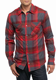 Ocean & Coast Sherpa Lined Plaid Shirt-Jacket