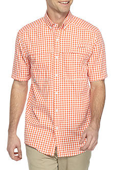 Ocean & Coast Short Sleeve Gingham Fishing Shirt