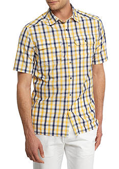 Ocean & Coast Short Sleeve Plaid Utility Shirt