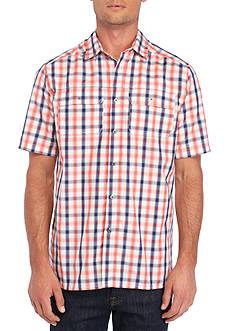 Ocean & Coast Short Sleeve Plaid Utility Shirt