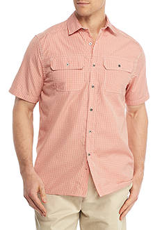 Ocean & Coast® Short Sleeve Micro Plaid Utility Shirt