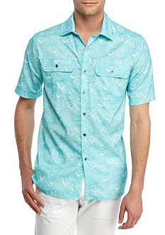 Ocean & Coast Short Sleeve Printed Utility Shirt