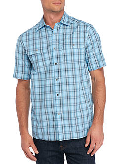 Ocean & Coast® Short Sleeve Plaid Utility Shirt