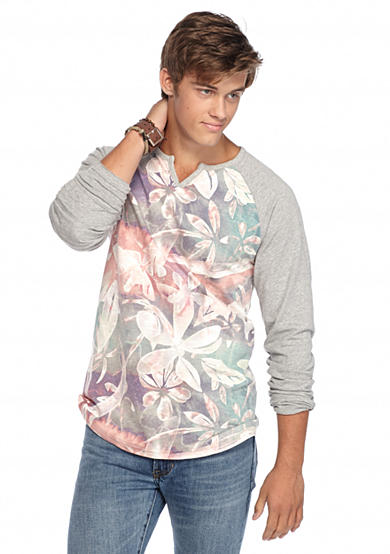 Chip pepper california long sleeve floral notch neckline s for Chip and pepper t shirts