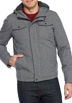 Levi's Big and Tall 2 Pocket Trucker Jacket with Hood