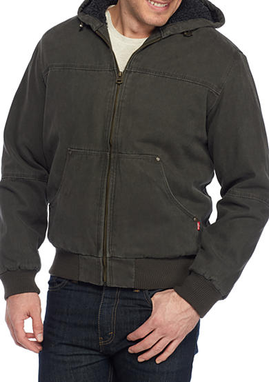 Levi's® Big and Tall Workwear Hooded Bomber Jacket