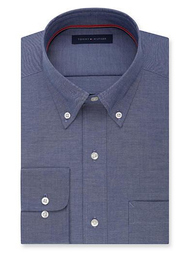 tommy hilfiger non iron soft touch regular fit dress shirt. Black Bedroom Furniture Sets. Home Design Ideas