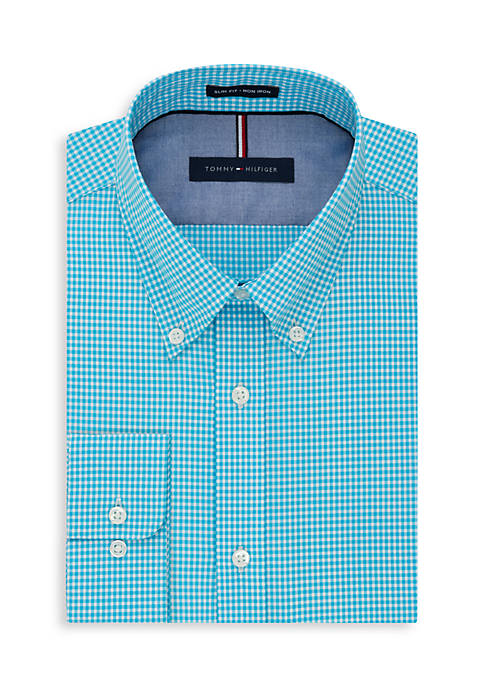 Tommy hilfiger non iron slim fit dress shirt belk for Slim fit non iron dress shirts