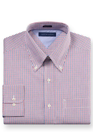 Tommy Hilfiger Big Tall Gingham Button Down Dress Shirt