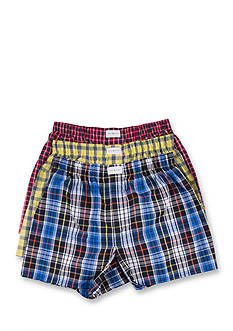 Tommy Hilfiger Plaid Woven Boxers - 3 Pack