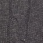 Mens Winter Sweaters: Black Saddlebred Cable Knit Sweater