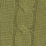 Mens Winter Sweaters: Olive Saddlebred Cable Knit Sweater