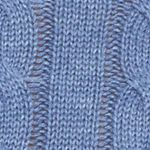 Mens Winter Sweaters: Denim Heather Saddlebred Cable Knit Sweater