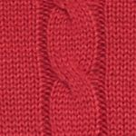 Mens Winter Sweaters: Red Saddlebred Cable Knit Sweater