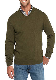 Saddlebred 1888 Long Sleeve Tailored V-Neck Sweater