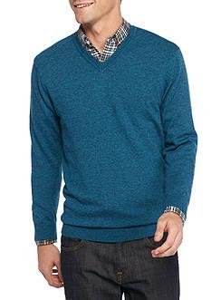Saddlebred 1888 Long Sleeve Tailored V-Neck Sweater