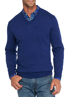 Saddlebred® 1888 Long Sleeve Tailored V-Neck Sweater