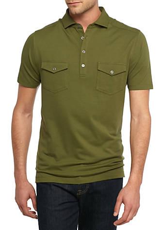 Ocean coast short sleeve two pocket polo shirt belk for Short sleeve polo shirt with pocket