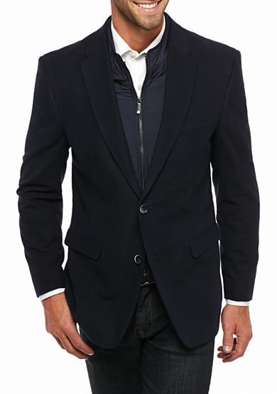 Tommy Hilfiger Classic Fit Moleskin With Bib Sport Coat