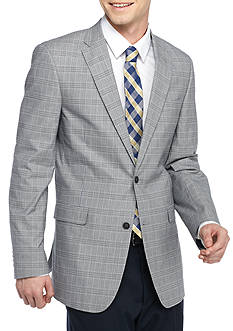 Tommy Hilfiger Classic-Fit Plaid Wrinkle Resistant Cotton Sport Coat