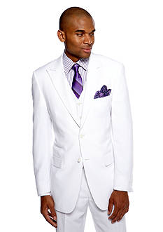 Steve Harvey Classic Fit Solid Linen Suit Separate Coat