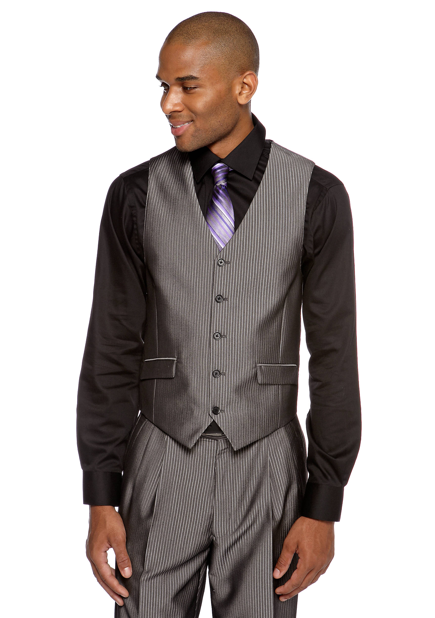 Steve Harvey® Classic Fit Pinstripe Suit Separate Vest   belk