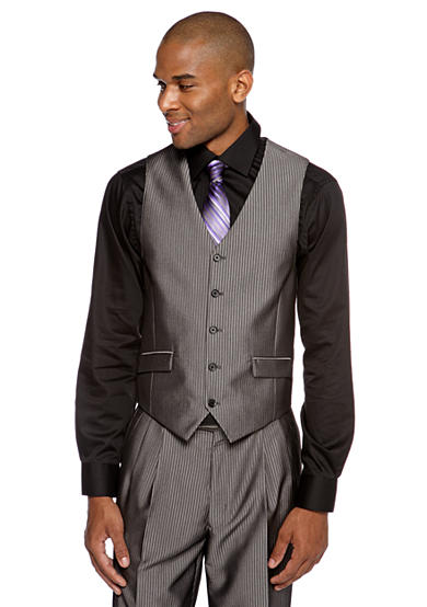 Steve Harvey® Classic Fit Pinstripe Suit Separate Vest