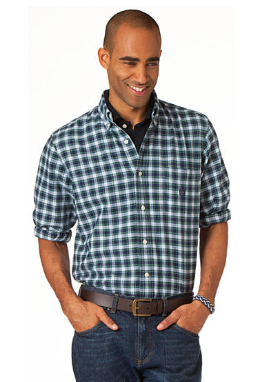 Chaps Oxford Pine Hill Plaid Shirt