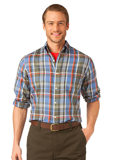 Chaps Twill Forest Port Plaid Shirt