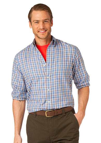 Chaps Twill Alder Creek Plaid Shirt