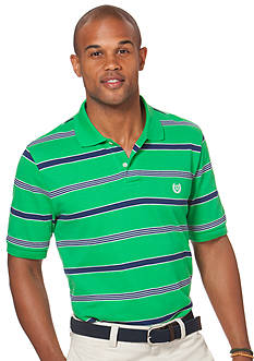 Chaps Palm Valley Striped Pique Polo Shirt