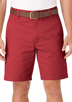 Chaps Flat-Front Twill Short