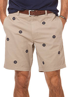 Chaps Compass Embroidered Twill Short