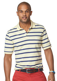 Chaps Brandle Striped Pique Polo Shirt