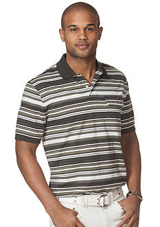 Chaps Striped Jacquard Polo Shirt