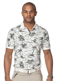 Chaps Walberg Tropical-Print Pique Polo Shirt